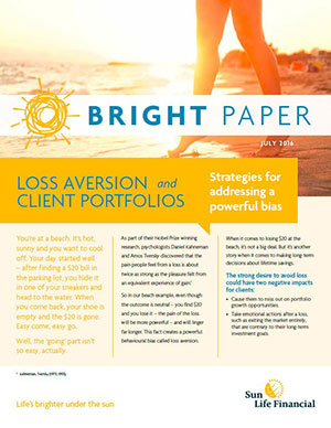 Bright Paper: Loss aversion and client portfolios
