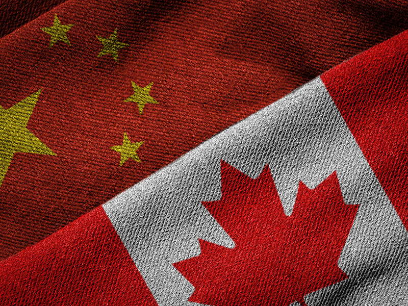 Flags of China and Canada