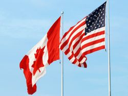 Canada and USA Flag