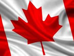 waving flag of canada