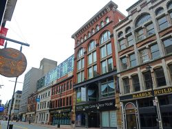 Historic Buildings on Barrington Street between Prince Street and Sackville street in downtown Halifax