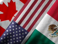 NAFTA flags: USA, Canada, Mexico