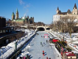 The Rideau Canal in Ottawa, Canada