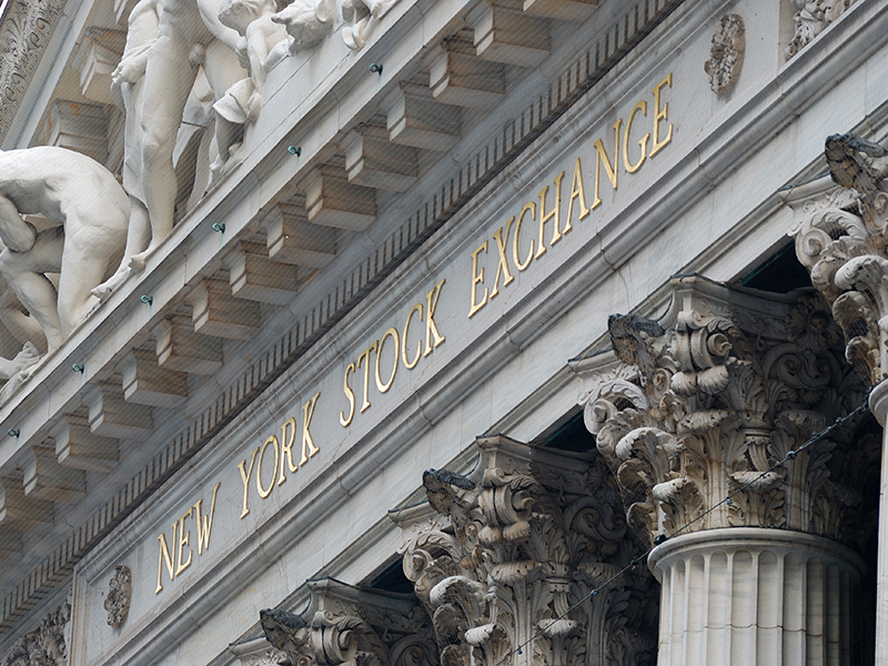 wall street new york stock exchange, the world's largest stock exchange by market capitalization of its listed companies. august 8, 2010 in manhattan, new york city.a