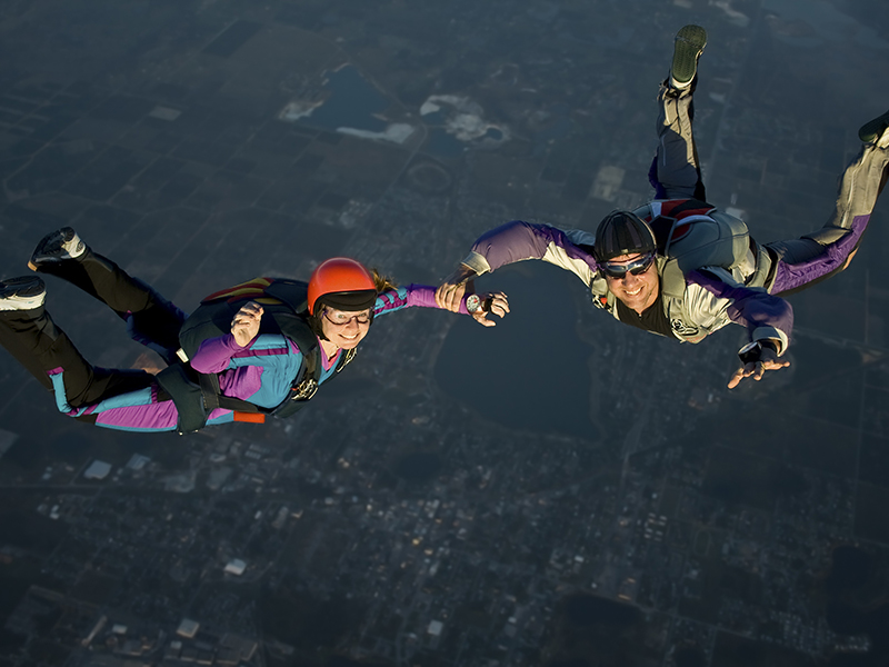 Skydiving Couple - Come Join Us