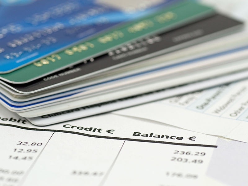 banking expenses, credit cards on bank invoice
