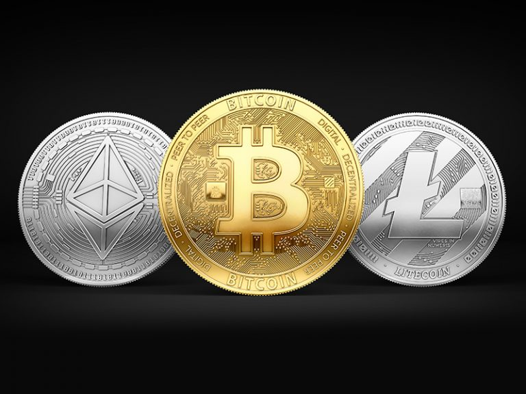 Bitcoin, Litecoin and Ethereum