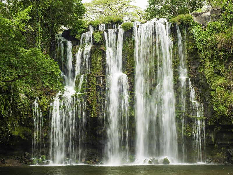 Llanos de Cortez Waterfall located in Costa Rica.
