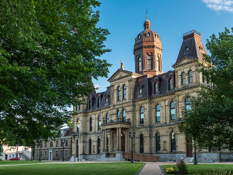 The New Brunswick Legislative Building in Fredericton