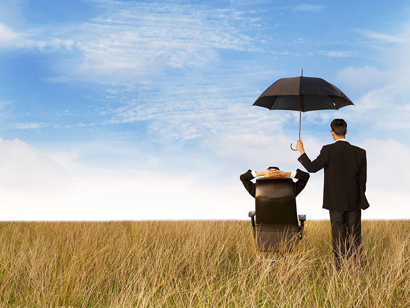 The insurance agent in the field, giving you the best protection everywhere