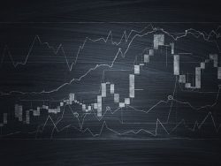Financial chart on blackboard