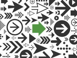 Background of arrows BACKWARD