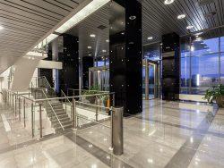 Interior of a modern futuristic building