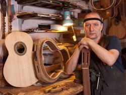 Luthier in workshop