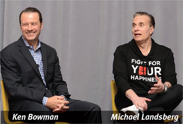 Ken Bowman on left and Michael Landsberg on right