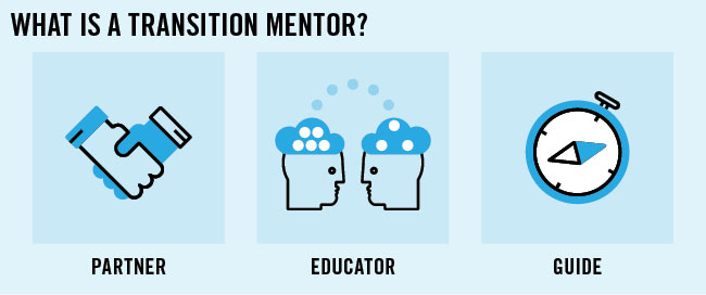 What is a transition mentor?