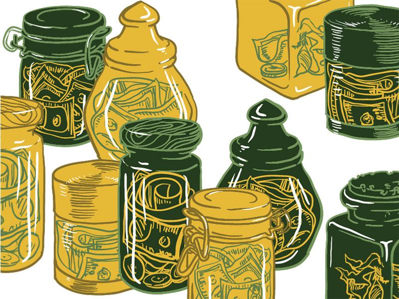 money-jars-savings