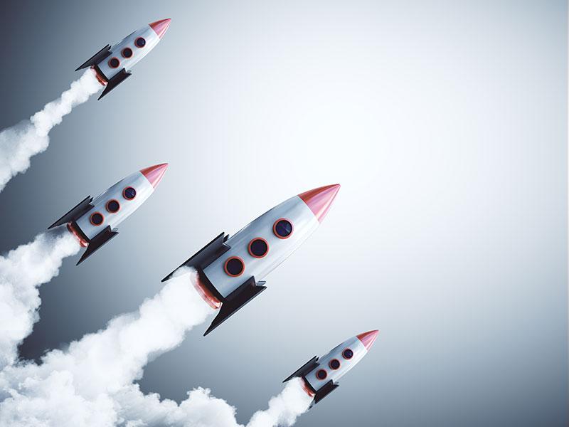 rockets launching