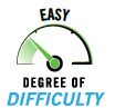 degree of difficulty: easy