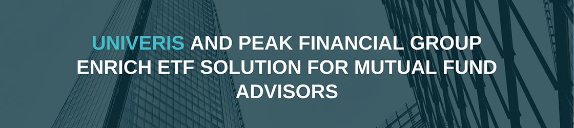 Univeris solution for financial advisors