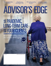 Advisor's Edge cover February 2021
