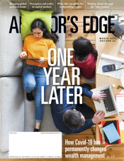 Advisor's Edge March 2021 cover